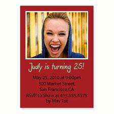 Red Birthday Invitations, 5x7 Stationery Card