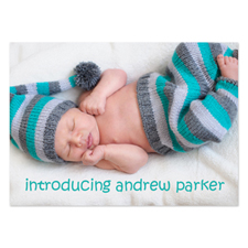 Full Photo Birth Announcements, 5x7 Stationery Card