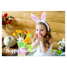 Full Photo Easter Invitations, 5x7 Stationery Card