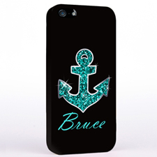 Glitter Turquoise Anchor