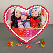 Personalized Heart Puzzles, Love You More