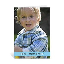 Personalized Mothers Day Greeting Cards, 5x7 Folded Baby Blue