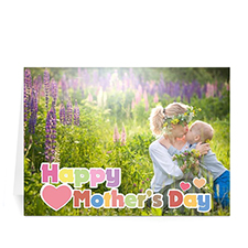 5x7 Folded Personalized Photo Cards, Love You Mom