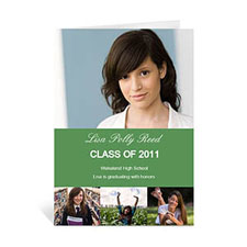 Four Collage Graduation Announcement, Honored Green