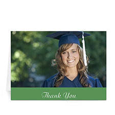 Graduation Thank You Card, Stylish Green