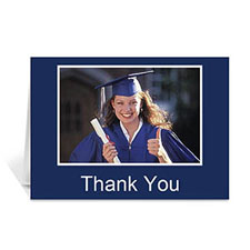 Graduation Thank You Card, Many Memories Blue