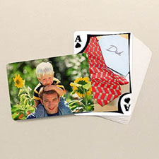 Modern Custom Front and Landscape Back Playing Cards Father's Day Gift