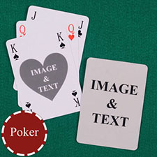 Heart Bridge Style Poker Size Custom Front and Back Playing Cards