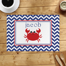 Chevron Red Crab