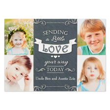 Sending a Little Love Invitation Card, 5x7 flat
