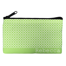 Lime Moroccan Personalized Cosmetic Bag