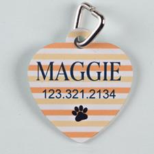 Orange Stripe Paw, Heart