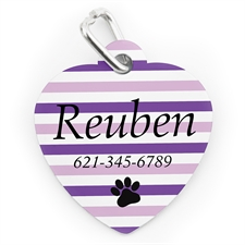 Lavender Stripe Paw, Heart