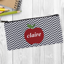 Red Apple Black Chevron