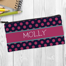 Black Fuchsia Polka Dot