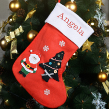 Custom Mix and Match Embroidered Name Chistmas Stocking