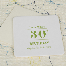 Birthday Celebration Square (set of 12)