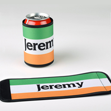 Irish Flag Personalized Can And Bottle Wrap