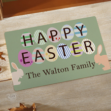 Create Your Own Happy Easter Door Mat
