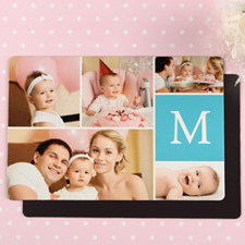 Monogrammed Personalized Photo Wedding Magnet 4x6 Large