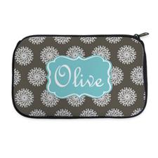 Personalized Neoprene Flower Cosmetic Bag (6 X 10 Inch)