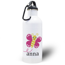 Personalized Photo Butterfly Water Bottle