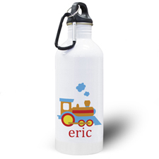 Personalized Photo Train Water Bottle
