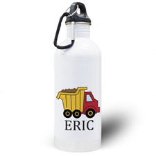 Personalized Photo Truck Water Bottle