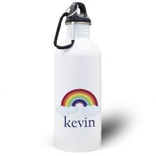 Personalized Photo Rainbow Water Bottle