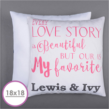 Love Story Personalized Pillow Cushion (18 Inch) (No Insert)