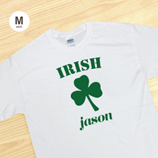 Custom Print Irish, White T Shirt T Shirt