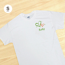 Personalized Luck & Hearts, White T Shirt