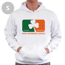 Personalized Irish Drinking League, White Hoodie Sweatshirt