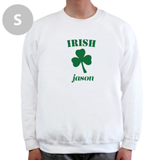 Irish, White Sweatshirt