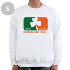 Irish Drinking League, White Sweatshirt