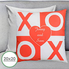 Xoxo Personalized Large Pillow Cushion Cover 20