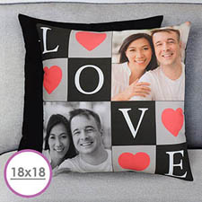 Love Collage Personalized Large Cushion 18