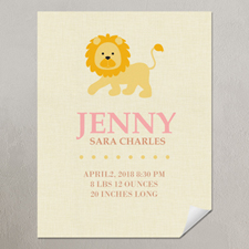 Lion Girl Personalized Poster Print, small