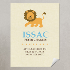 Lion Boy Personalized Poster Print, small