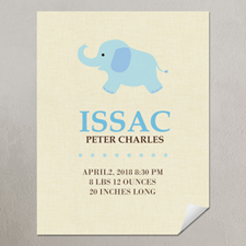 Elephant Boy Personalized Poster Print, small