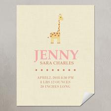 Giraffe Girl Personalized Poster Print, small