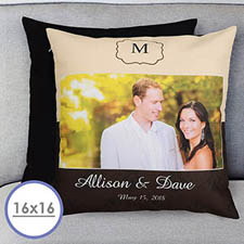 Wedding Day Personalized Pillow Cushion Cover 16
