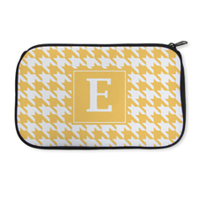 Personalized Neoprene Hounds Tooth Cosmetic Bag (6 X 10 Inch)