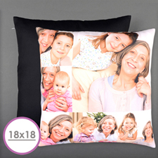 Six Collage Photo Personalized Pillow Cushion (18 Inch) (No Insert)