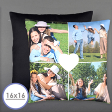Heart Personalized Photo Pillow Cushion Cover 16