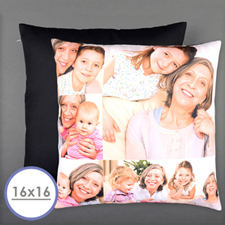 Six Collage Photo Personalized Pillow 16 Inch  Cushion (No Insert)