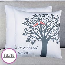 Love Birds Personalized Pillow 18x18(NO INSERT)