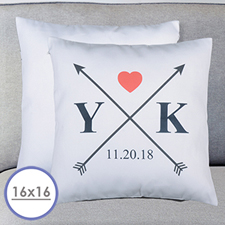 Wedding Arrow Personalized Pillow Cushion Cover 16