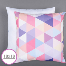18 X 18 All Over Print Pillow (White Back)  Cushion (No Insert)