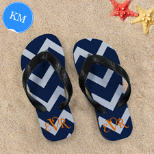 Chevron Beach Sandals, Kids Medium